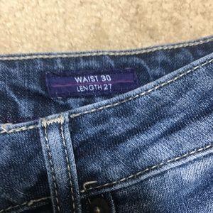 Vigoss Jeans - Vigoss Distressed Jeans Thompson Double Roll Cuff